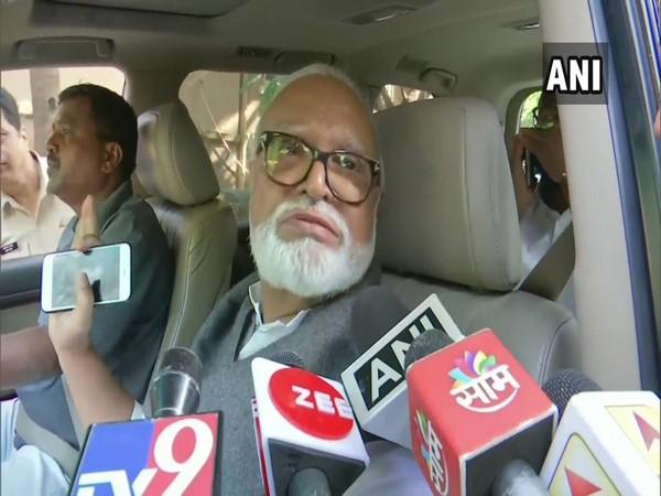 NCP leader Chhagan Bhujbal speaking to media in Mumbai on Sunday. (Photo/ANI)