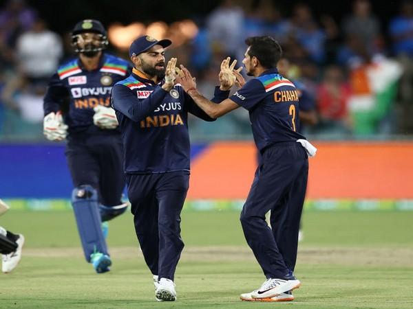 India spinner Yuzvendra Chahal with skipper Virat Kohli (Photo/ BCCI Twitter)