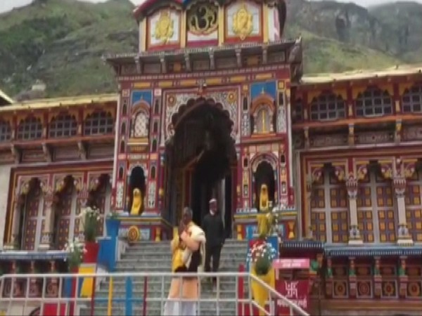 Visual from Badrinath Temple in Chamoli