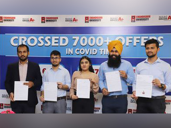 Chandigarh University beats its own record in campus placements; Registers 7412 offers by 757 multinationals for 2021 batch during pandemic