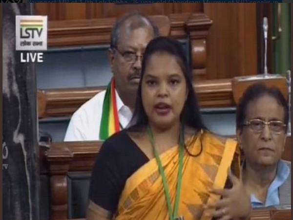 Chandrani Murmu speaking in the Lok Sabha on Thursday (Phot/LSTV)