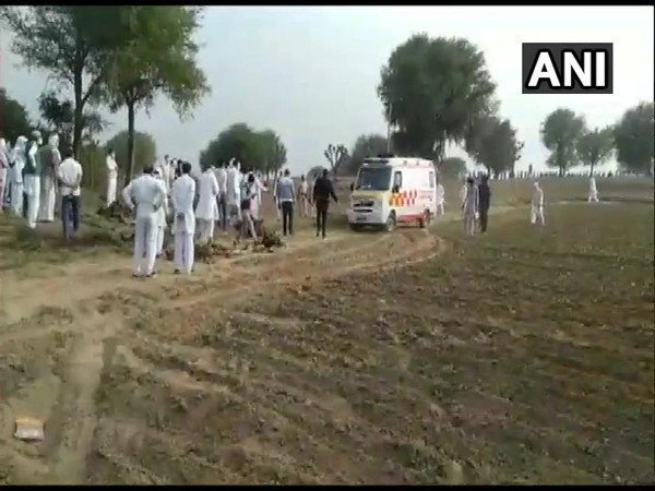 A visual from the cremation ceremony on Sunday. Photo/ANI