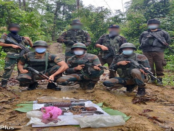 Indian Army in a joint operation with Arunachal Pradesh Police recovers arms, ammunition and explosives
