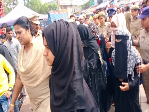 People protesting outside being detained by Hyderabad police on Thursday