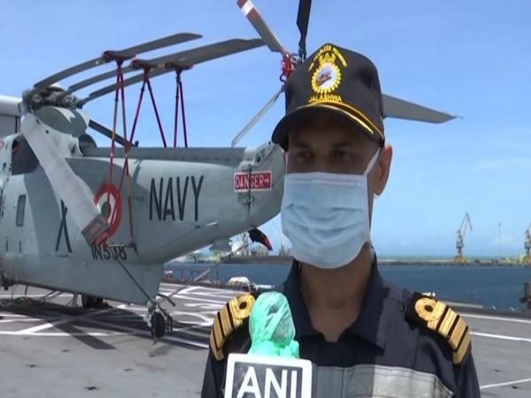Captain Pankaj Chauhan speaking to ANI in Tuticorin.