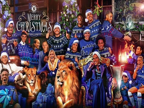 Chelsea extending Christmas greetings (Photo/ Chelsea twitter)