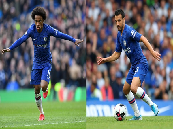 Willian (L) and Pedro (R) (Photo/Chelsea FC Twitter)