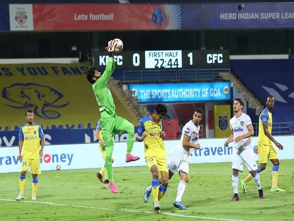 Albino Gomes was in top form against Chennaiyin. (Image: ISL)