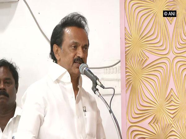 DMK president MK Stalin speaking at an 'Iftar' function in Chennai, Tamil Nadu, on Wednesday. Photo/ANI