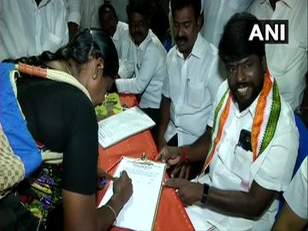 DMK members on the streets of Chennai seeking signature for their campaign against CAA, NRC and NPR.