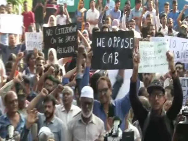People protesting against the CAA in Chennai on Thursday. (Photo/ANI)