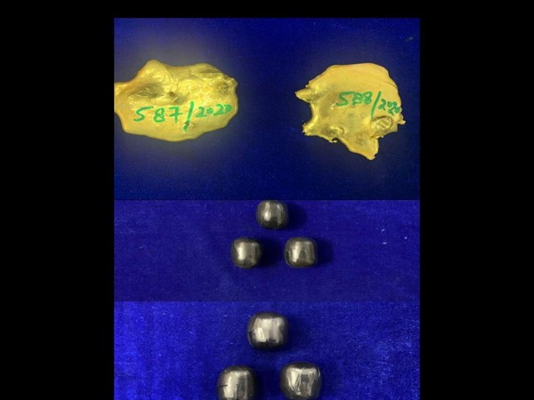 Gold worth Rs 35.5 lakhs seized at the Chennai airport (Photo: ANI/Twitter)