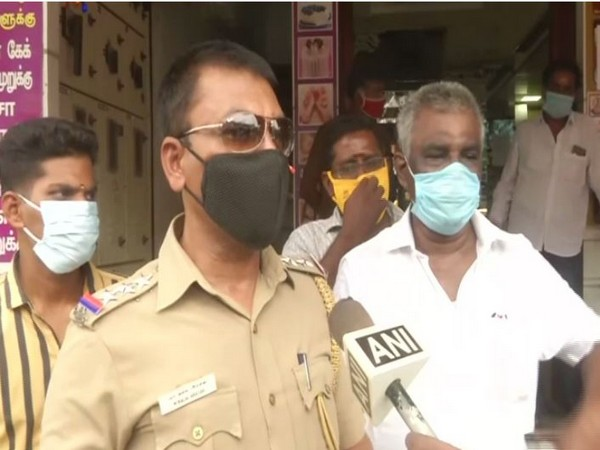 Police Inspector Kalai Arasan speaking to ANI on Tuesday about the COVID-19 lockdown situation in Chennai.