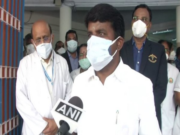 Tamil Nadu Health Minister Vijayabaskar speaking with ANI on Thursday.