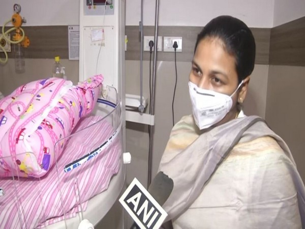 Priyadarshini, who had tested positive for COVID-19 on August 17, 2020, was brought to Kauvery Hospital for treatment. [Photo/ANI]