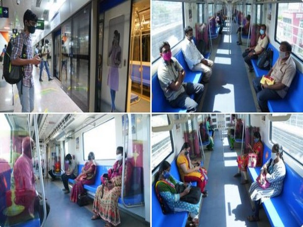 Chennai Metro Rail resumed services on Green Line. (Photo/ANI)