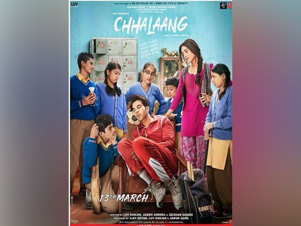 The first poster of the upcoming social comedy 'Chhalaang' (Image courtesy: Instagram)