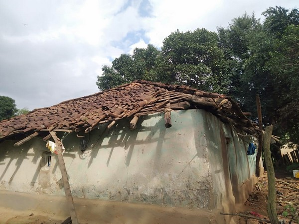 Visual from Kondagaon district in Chhattisgarh where mobs vandalised houses. Photo/ANI