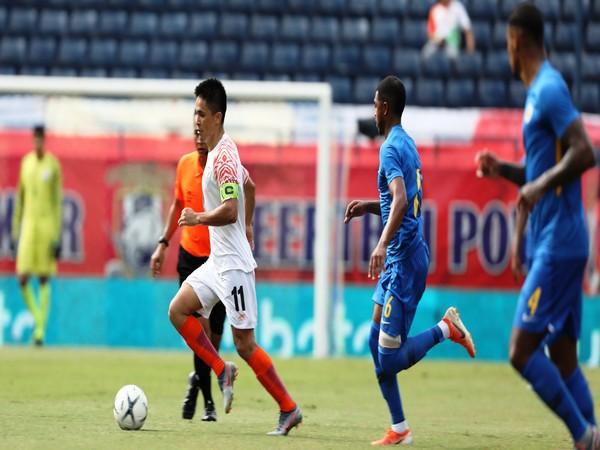 Indian captain Sunil Chhetri in action against Curacao (Photo/ Indian Football Team Twitter)