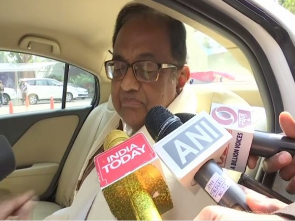 Senior Congress leader P Chidambaram speaking to reporters in New Delhi on Tuesday. Photo/ANI