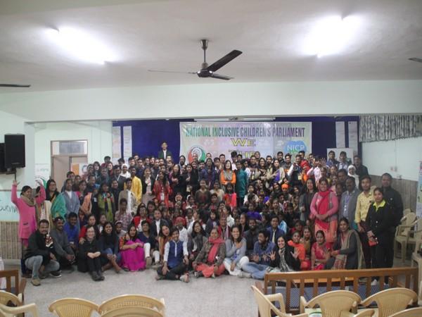 75 child parliamentarians at a national Children's Parliament. Photo/ANI