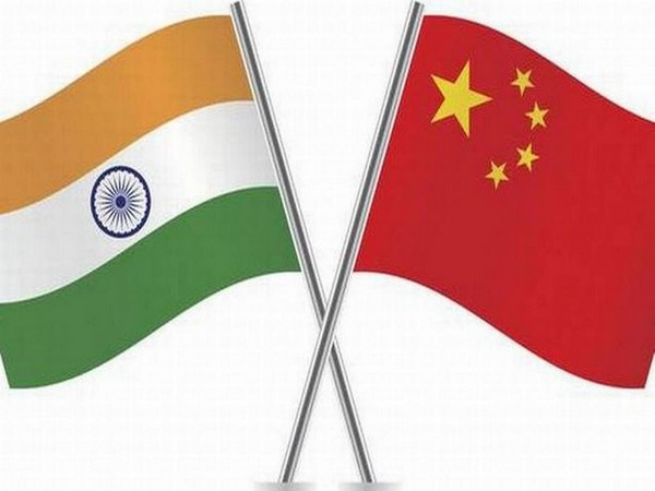 Flags of India and China (File pic: Vikram Misri/Twitter)