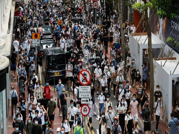Anti-national security law protestors march on the anniversary of Hong Kong's handover to China from Britain in Hong Kong on July 1 (Photo: Reuters)