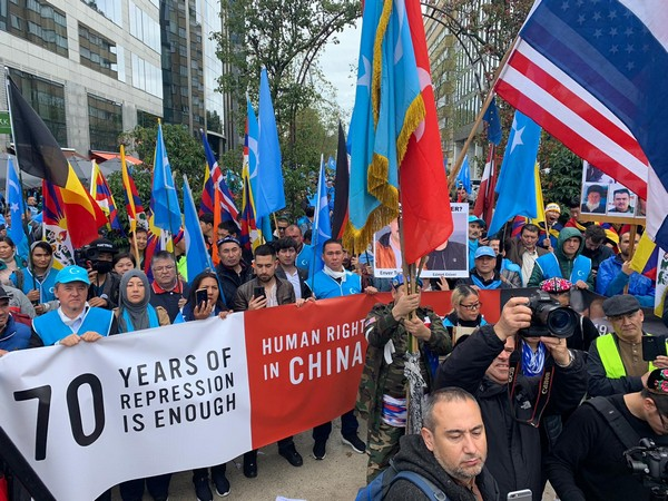 Anti-China protests in Brussels