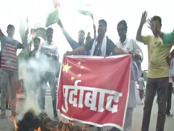Protests erupt in several parts of the country against China. Photo/ANI