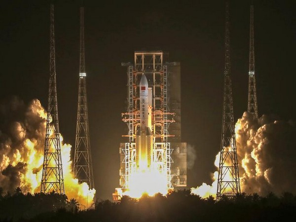 China launches third Long March-5 rocket in Hainan province on Friday evening.