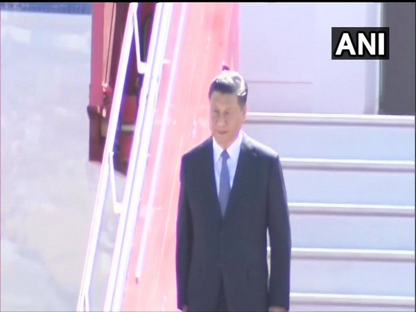 Chinese President Xi Jinping arrives at Chennai Airport