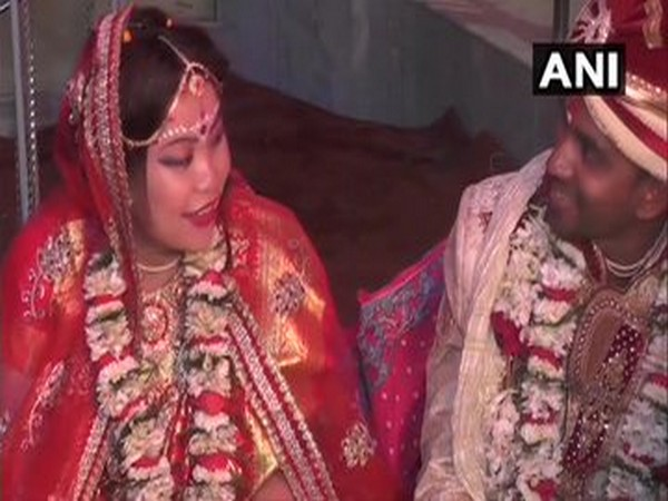 A Chinese woman named B Jiaqi getting married to Indian national Pintu Jana here in Bengal on Wednesday.