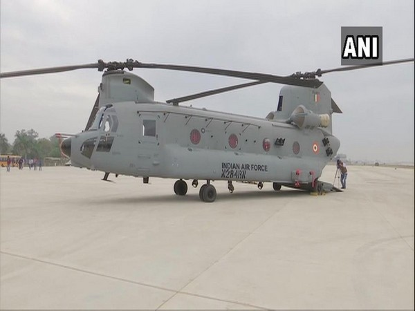 Chinook heavy-lift helicopters at Air Force Station 12 Wing, in Chandigarh