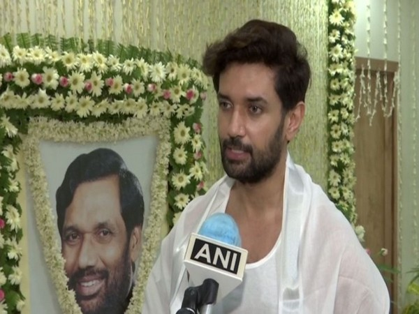 Lok Jan Shakti Party (LJP) national president Chirag Paswan speaking to ANI on Friday. Photo/ANI