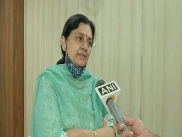 Chitra Ramachandran speaking to ANI in Hyderabad. [Photo/ANI]