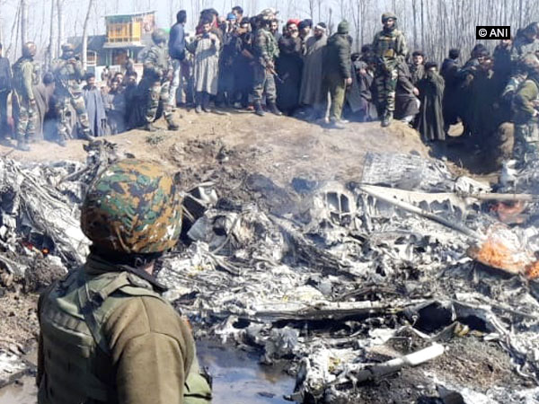 Crash site of the Mi-17 V5 helicopter of the Indian Air Force.  (File Photo/ANI)