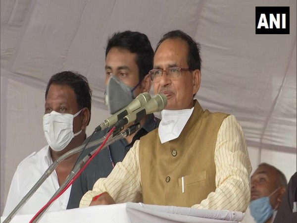 Madhya Pradesh Chief Minister Shivraj Singh Chouhan at an event on Sunday. (Photo/ANI)