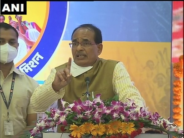 Madhya Pradesh Chief Minister Shivraj Singh Chouhan during an event in Bhopal on Sunday. (Photo/ANI)