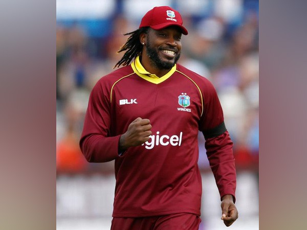 West Indies left-handed batsman Chris Gayle