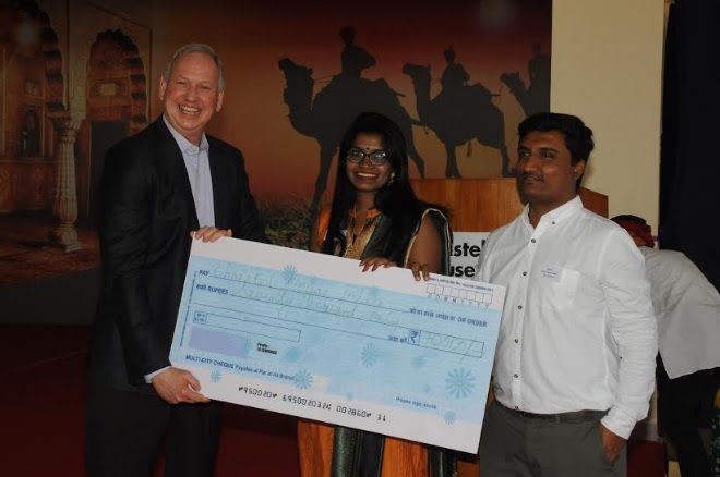 Christel House alumni donate Rs 70000 to enable the organization's vision