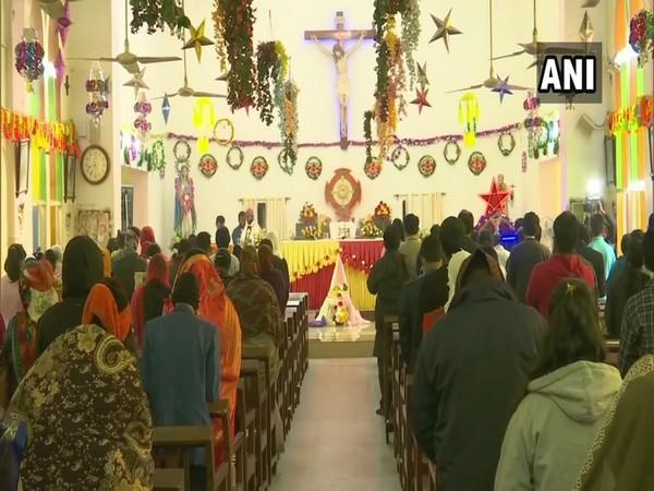 Morning prayers at a church in Bhubaneswar (Photo/ANI)
