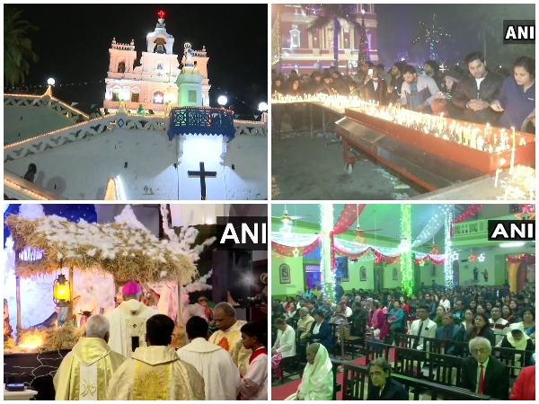 Midnight Mass was held in decked-up churches across India