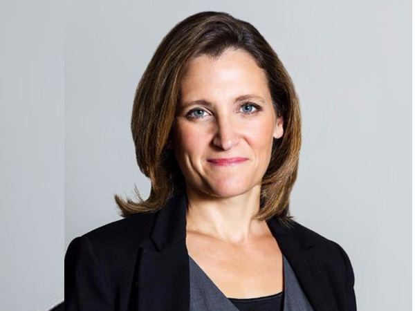 The Minister of Foreign Affairs of Canada, Chrystia Freeland