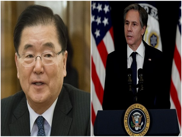 South Korean new Foreign Minister Chung Eui-Yong and US Secretary of State Antony Blinken (Photo Credit - Reuters)