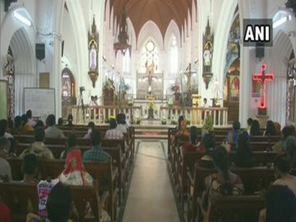 People offer prayers at St. Thomas Cathedral Basilica in Chennai on Pongal festival  Photo/ANI