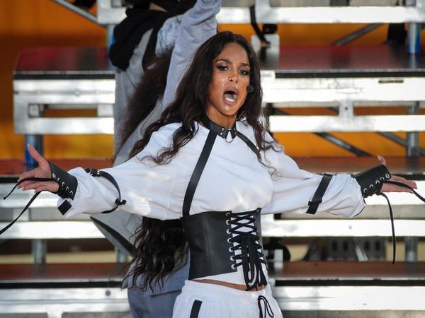 Ciara performs on ABC's 'Good Morning America' show in Central Park in New York City,