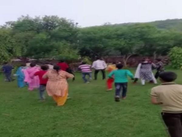 Visuals of RSS shakha attacked in Rajasthan's Bundi. (Photo/ANI)