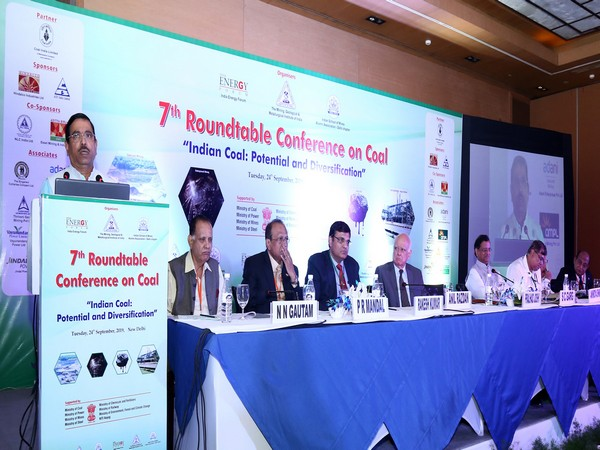 Minister for Coal and Mines Pralhad Joshi addressing a conference in New Delhi on Tuesday.