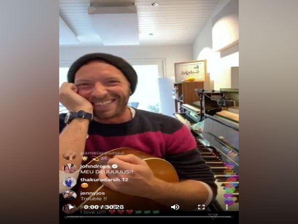 A still from the live performance by Coldplay front man Chris Martin on social media (Image courtesy: Instagram)