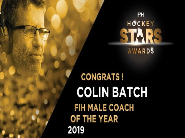 Colin Batch wins FIH Male Coach of the Year 2019 award (Image: FIH Twitter)